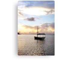 Muri sunset - Muri Lagoon, Rarotonga Metal Print