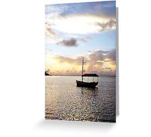 Muri sunset - Muri Lagoon, Rarotonga Greeting Card