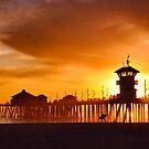 Huntington Beach Pier, Surfer by Mark Ramstead