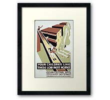 WPA United States Government Work Project Administration Poster 0295 Your Children Like these Low Rent Homes Framed Print