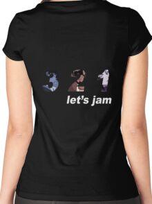cowboy bebop 3 2 1 lets jam spike faye jet anime manga shirt Women's Fitted Scoop T-Shirt