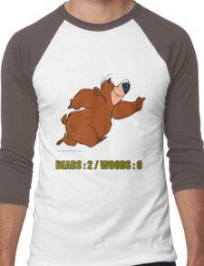 BEAR vs WOODS Men's Baseball ¾ T-Shirt