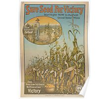 United States Department of Agriculture Poster 0098 Save Seed for Victory Home Grown Field Selected Poster