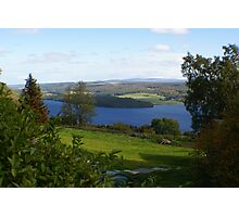 view across Loch Ness Photographic Print