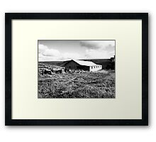 Old Farm Shed Framed Print