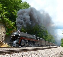 N&W #611 Climbs Christiansburg Mountain Grade by TrainmasterBob