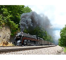 N&W #611 Climbs Christiansburg Mountain Grade Photographic Print