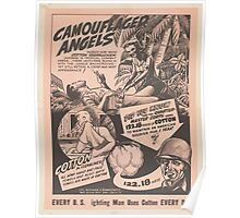 United States Department of Agriculture Poster 0160 Camouflaged Angels Every Fighting Man Uses Cotton Every Day Poster