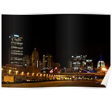 Pittsburgh At Night - modern landscape Poster