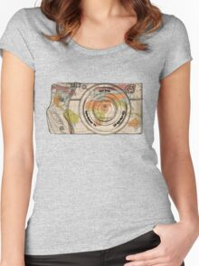 Travel The World With A Camera Women's Fitted Scoop T-Shirt