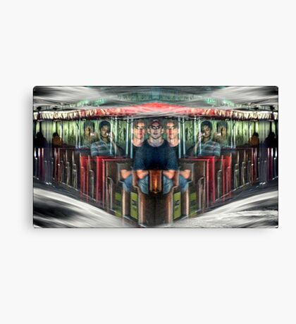 the perils of time travel in a parallel universe Canvas Print