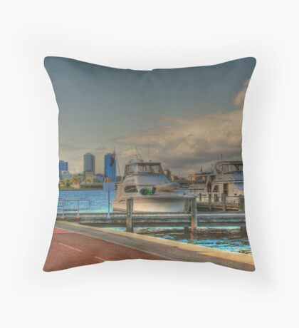 THE OLD BREWERY JETTY-173 Mounts Bay Road – Crawley Throw Pillow