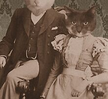 Harry and Trixie Cat 1896 by mokacat