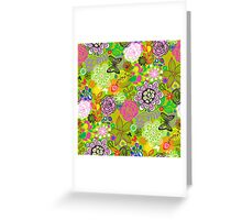 Floral Doodle with Butterflies Greeting Card
