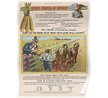 United States Department of Agriculture Poster 0214 Your Seed Corn Will Grow Poster