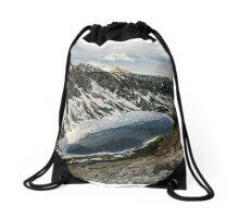 Frozen lake Drawstring Bag