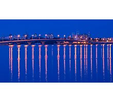 Havana bridge in lights Photographic Print