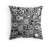 Wheels Within Wheels - version 2 on black  Throw Pillow