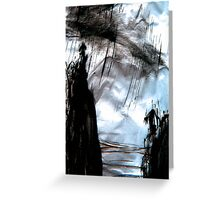 storm out at sea Greeting Card