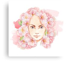 Face of spring Canvas Print