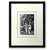 Two Ladies In The Park, Circa 1930s Framed Print