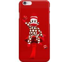 POKA DOT-SOCK MONKEY TROWING DICE-PILLOWS-JOURNAL-TOTE BAG-MUG-BOOKS-TEE SHIRT-ECT.. iPhone Case/Skin