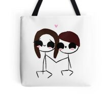 larrie holding hands (#70) Tote Bag