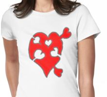 A LOVE puzzle piece Womens Fitted T-Shirt