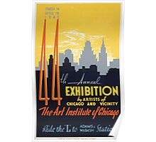 WPA United States Government Work Project Administration Poster 0267 44th Annual Exhibition by Artitsts of Chicago and Vicinity Poster