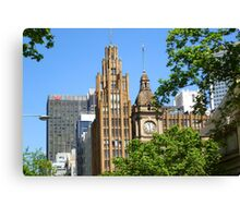 Three Odd Fellows on Collins Street Canvas Print