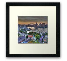 Jackarandah Dawn - Sydney Harbour, Sydney Australia Framed Print
