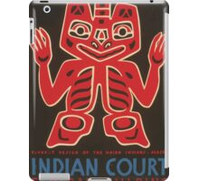 WPA United States Government Work Project Administration Poster 1036 Blanket Design of the Haida Indians Alaska Indian Court Federal Building iPad Case/Skin