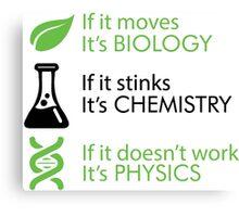 Biology - Chemistry - Physics Canvas Print