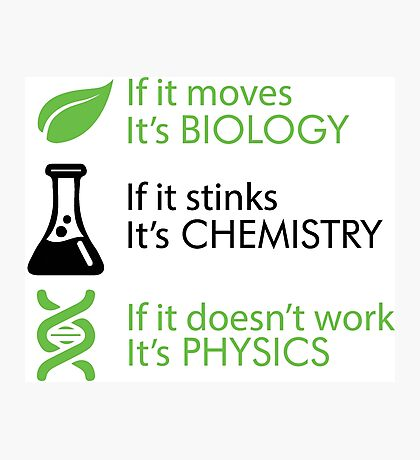 Biology - Chemistry - Physics Photographic Print