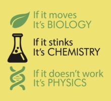 Biology - Chemistry - Physics One Piece - Short Sleeve