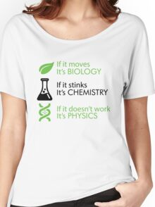 Biology - Chemistry - Physics Women's Relaxed Fit T-Shirt