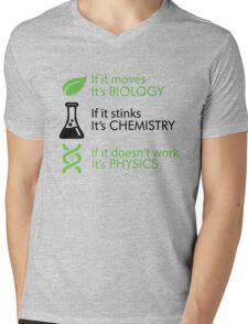 Biology - Chemistry - Physics Mens V-Neck T-Shirt