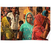 Portrait of women of Rajasthan Poster