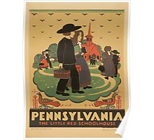 WPA United States Government Work Project Administration Poster 0972 Pennsylvania The Little Red School House Poster