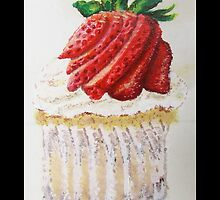 Strawberry Cupcake  by miacremer