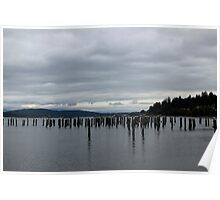 Cloudy on the Puget Sound Poster