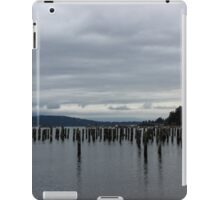 Cloudy on the Puget Sound iPad Case/Skin