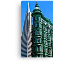 San Francisco Architectural Contrast Canvas Print