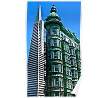 San Francisco Architectural Contrast Poster