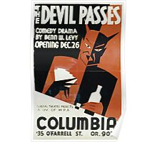 WPA United States Government Work Project Administration Poster 0345 The Devil Passes Columbia Poster