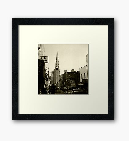 Transamerica Pyramid From Chinatown Framed Print