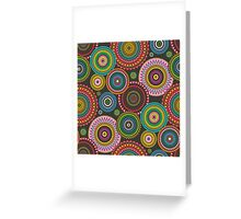 Circles Geometric multi coloured Greeting Card