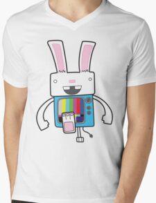 Bunny Ears Mens V-Neck T-Shirt