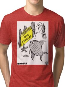 Fish Fingers ? Tri-blend T-Shirt