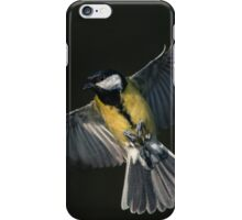 Great Tit on the wing iPhone Case/Skin